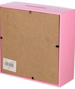Tirelire licorne boite rose arrière